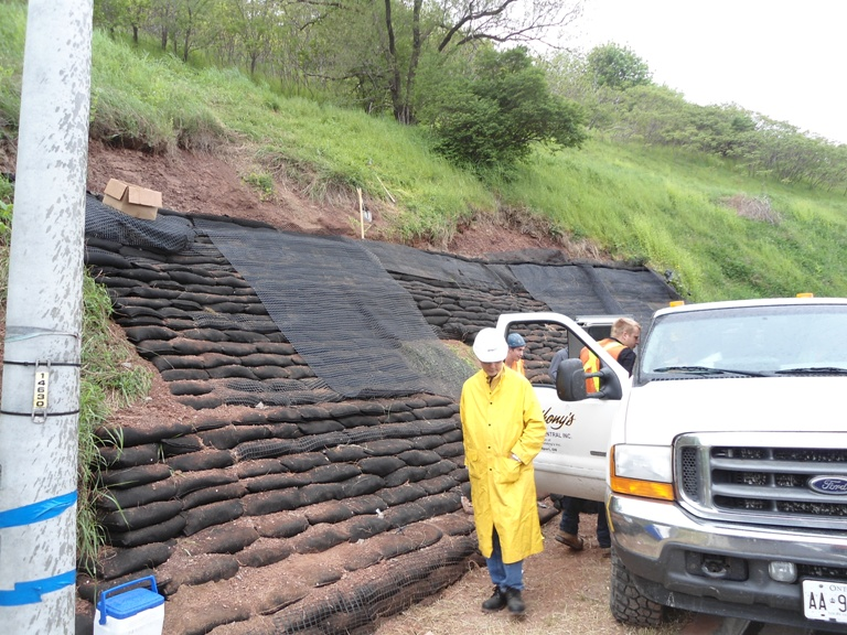 Building the Wall - Erosion Control USA