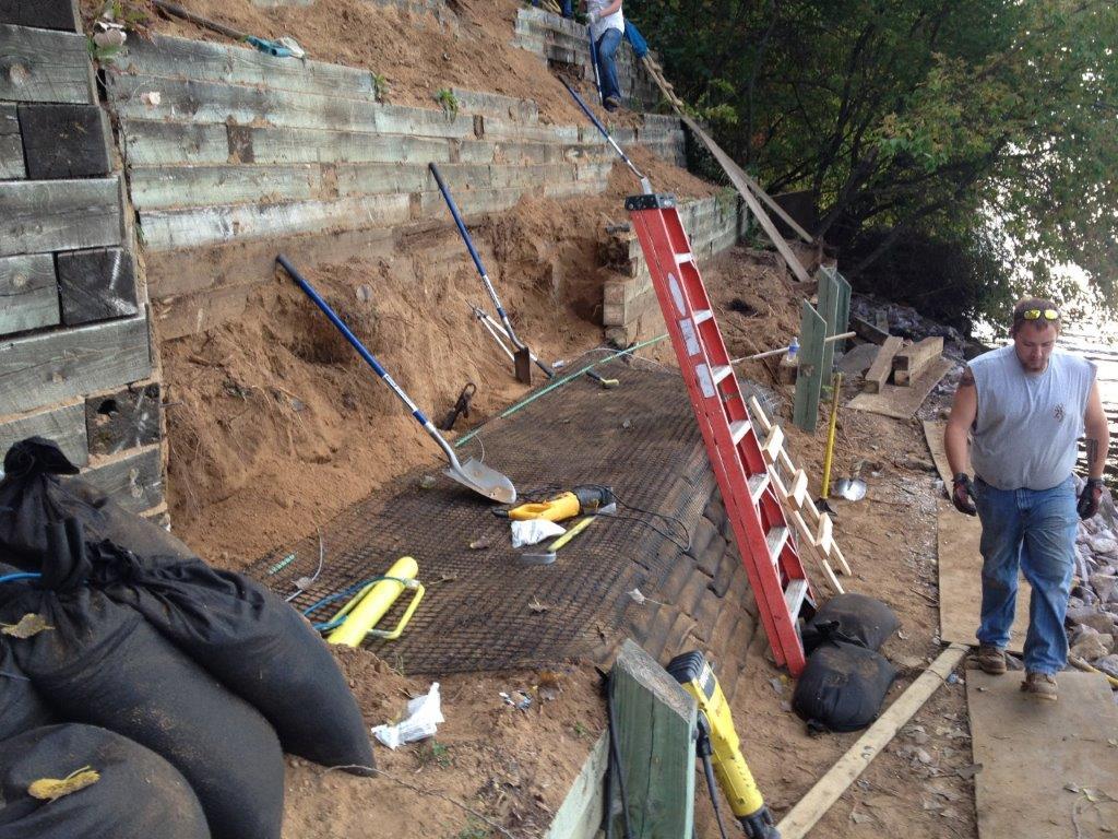 Geogrid Installation - Erosion Control USA
